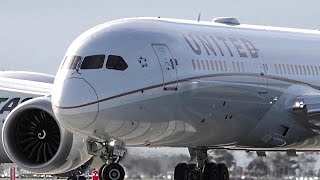 2nd Longest Dreamliner Flight ● United Airlines Boeing 787-9 - Landing & Takeoff Melbourne Airport