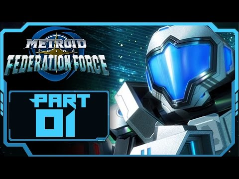 Metroid Prime Federation Force - Part 1 | Mission 01: Outpost + Intro! [NEW Nintendo 3DS Gameplay]
