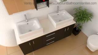 Design Element Ava Modern Double Sink Bathroom Vanity