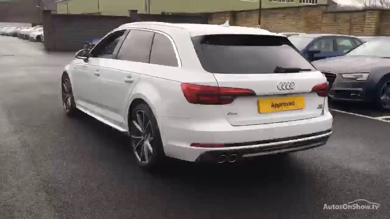 yl66wso audi a4 avant tdi quattro s line white 2017 bradford audi youtube. Black Bedroom Furniture Sets. Home Design Ideas