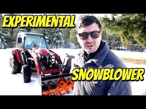 EXPERIMENTAL Snowblower Test  & Global Warming