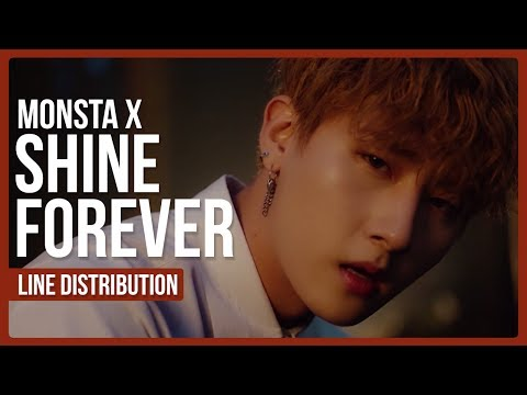 MONSTA X - SHINE FOREVER Line Distribution (Color Coded)