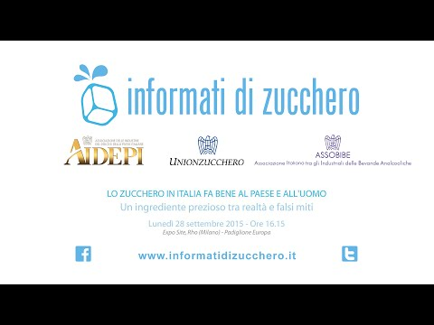 Lo Zucchero in Italia fa bene al Paese e all'uomo - video integrale