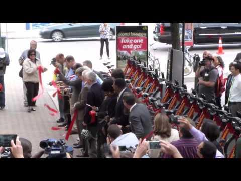 Capital Bikeshare launch in Montgomery County