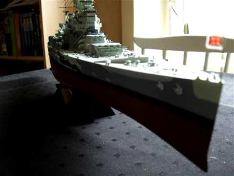 HMS Prince of Wales scale model