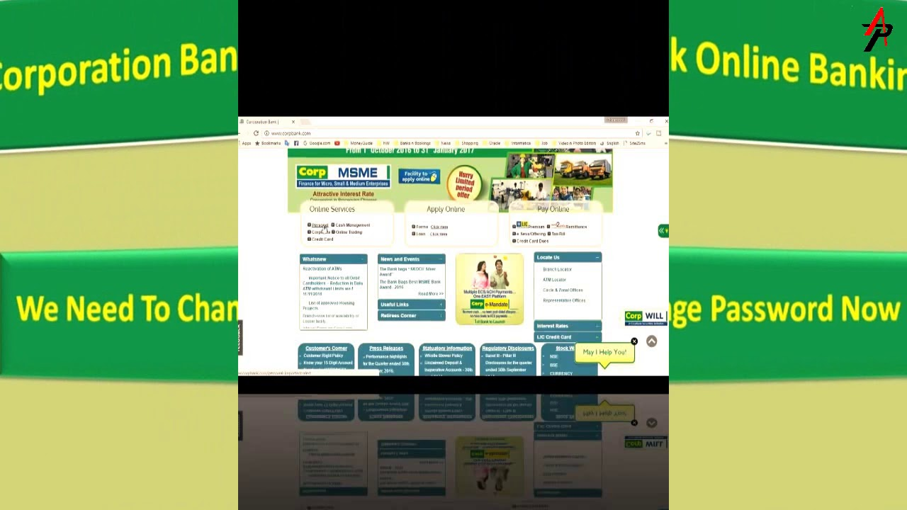 corporation bank internet banking service