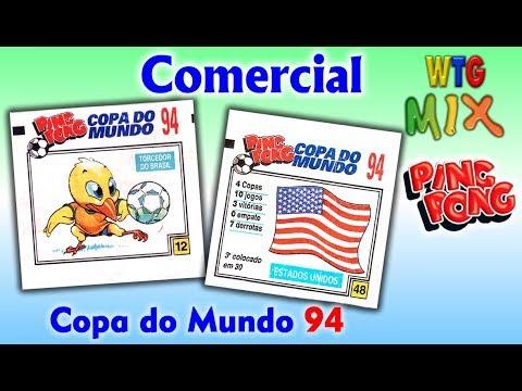 Comercial Figurinhas Ping Pong Copa do Mundo 94   1994 - Chiclete Ping Pong   Nostalgia efa9a773a41ca
