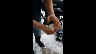 Repeat youtube video BURNT SNOW?? PLASTIC SNOW??  GOVERNMENT CONSPIRACY?? Dubuque Iowa January 30th, 2014