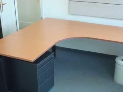 Gebrauchte Bene & Hali Büromöbel mieten oder kaufen Wien - YouTube