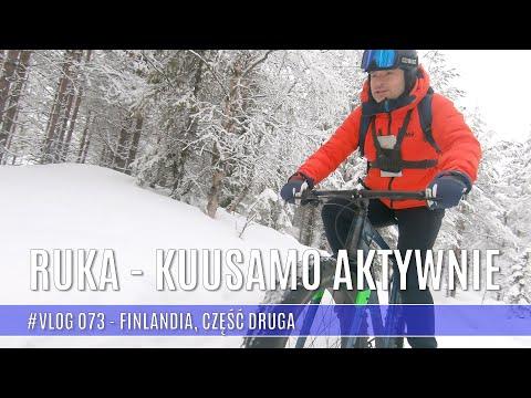 Ruka - Kuusamo rowerem po śniegu