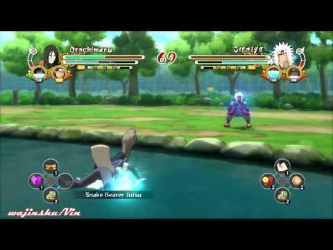 Naruto Ultimate Ninja Storm 3 Orochimaru vs Jiraiya Gameplay