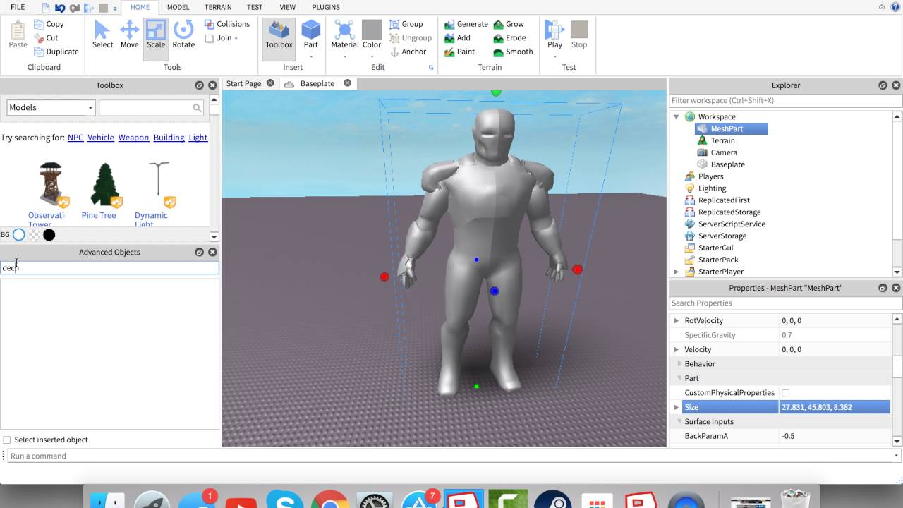 How To Make A Model On Roblox