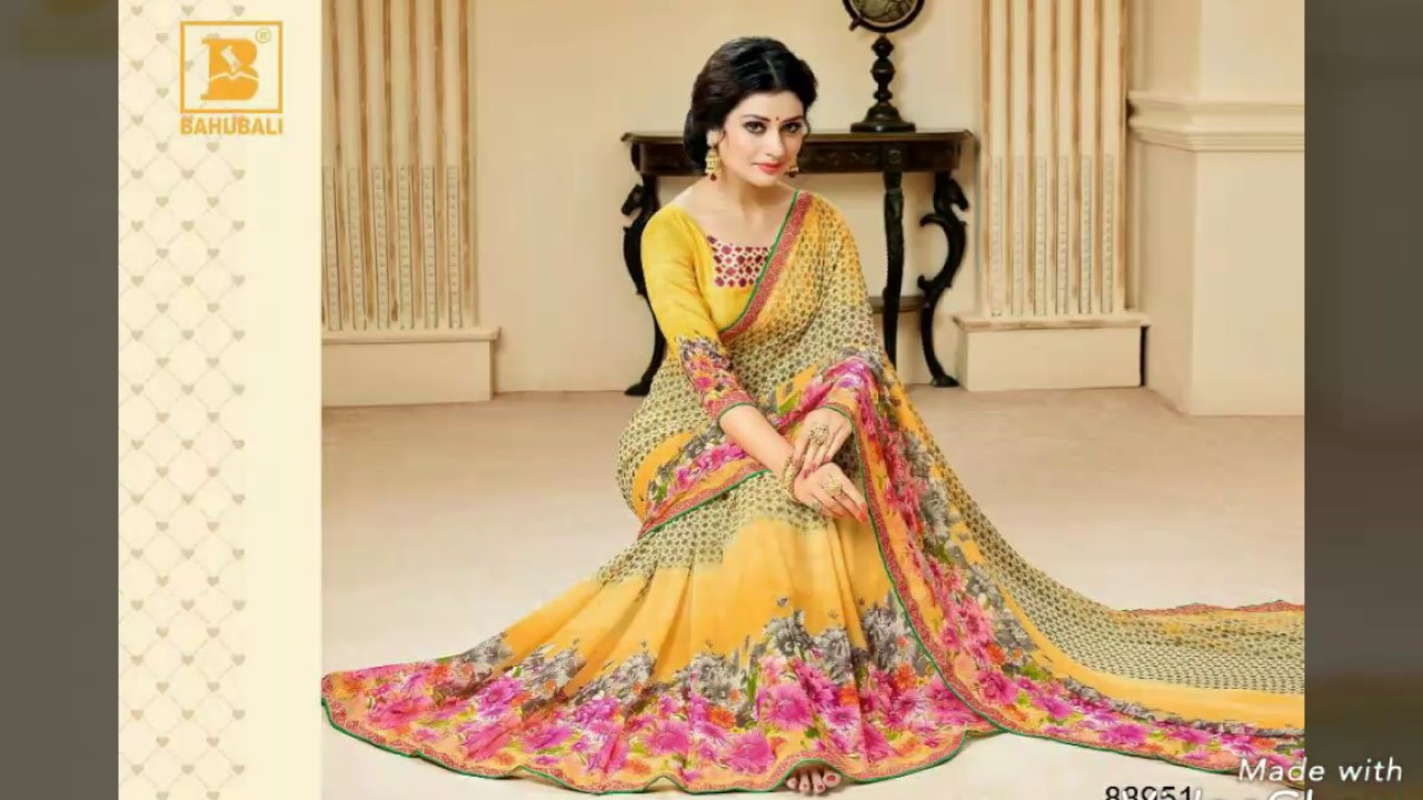 Man mandir saree jodhpur presents New catalogue of 'bahubali' fancy printed  sarees *Rs. 9