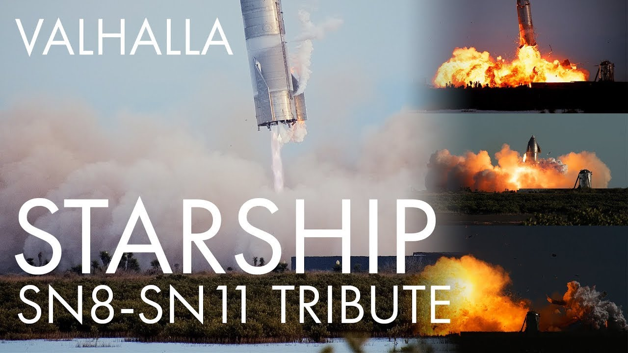 Download Valhalla: Starship Flight Footage SN8-SN11 - 4K