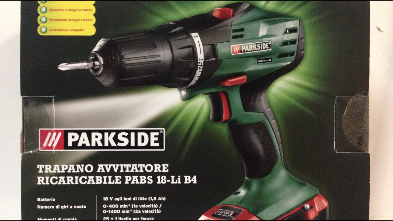 Parkside pabs 18 li b4 youtube for Parkside avvitatore