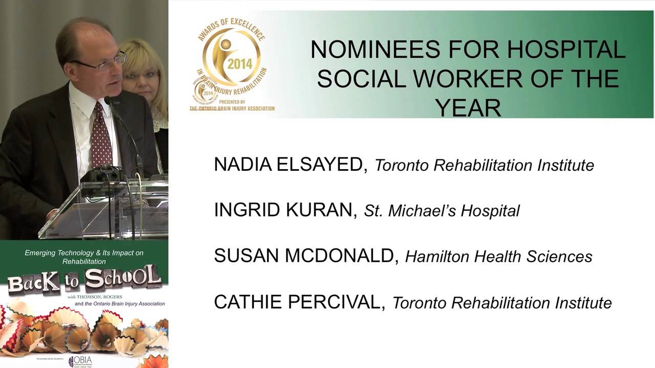 2014 Susan Mcdonald Hospital Social Worker Of The Year Youtube