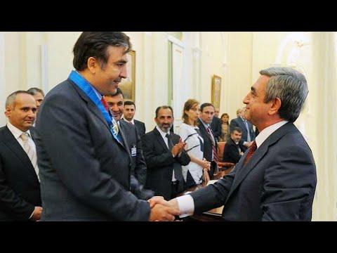 Армяне забирают назад свои награды у Михаила Саакашвили