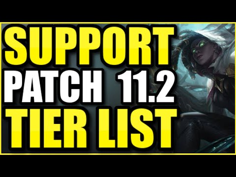 THE *BEST* CHAMPIONS TO PLAY AS SUPPORT ON PATCH 11.2! – League of Legends Support Tier List