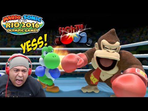 FIGHT OF THE F#%KING CENTURY!! [YOSHI VS. DONKEY!] [MARIO & SONIC 2016 RIO OLYMPICS!]