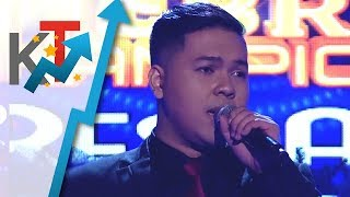 TNT Celebrity Champions Resbaker Rhap Salazar sings A Moment Like This