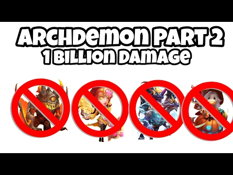 Castle Clash Archdemon No Demo,Trixie,Val,Ghoul 1Billion Damage F2P Heroes Used