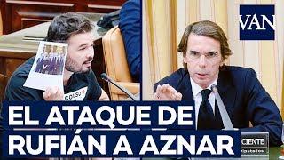 Duro interrogatorio de Rufián a Aznar