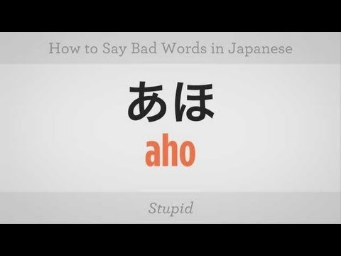 How to Say Bad Words   Japanese Lessons