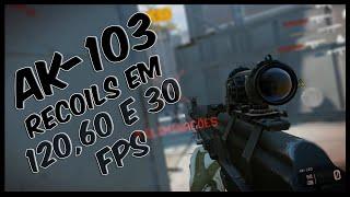 Warface: AK-103 RECOIL EM 120, 60 E 30 FPS - VEJA A DIFERENÇA