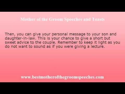 Mother of the Groom Wedding Speech - Make Your Preparation Easy - Wedding Speech Example
