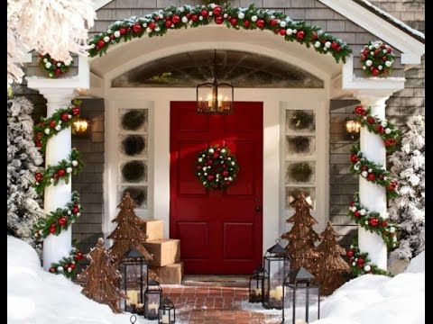 Christmas home decoration ideas 2016 youtube - Christmas decorating exterior house ...