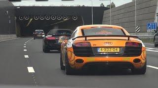 Audi R8 V10 w/ CAPRISTO EXHAUST IN TUNNEL!