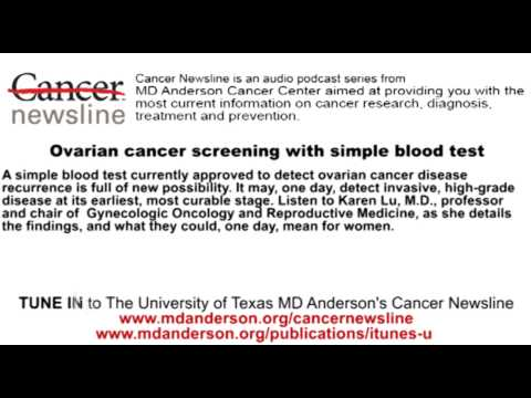 Ovarian cancer screening with simple blood test