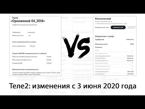 Изменения на Теле2 с 3 июня. Перевод с архивных тарифов без абонентской платы на новые.