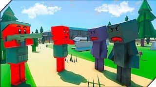 ЗОМБИ ЗАХВАТИЛИ ШКОЛУ - Игра Ancient Warfare 3. Приключения зомби, игра как зомби мультик