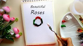 Beautiful Roses 🌹 Painting / Easy Rose Acrylic Painting for Beginners screenshot 2