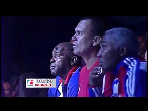 64kg Luis OLIVA (Domadores de Cuba) vs Radzhab BUTAEV (Russian Boxing Team)