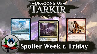Dragons of Tarkir Spoilers: Silumgar's Command, Arashin Foremost, Shorecrasher Elemental, and more!