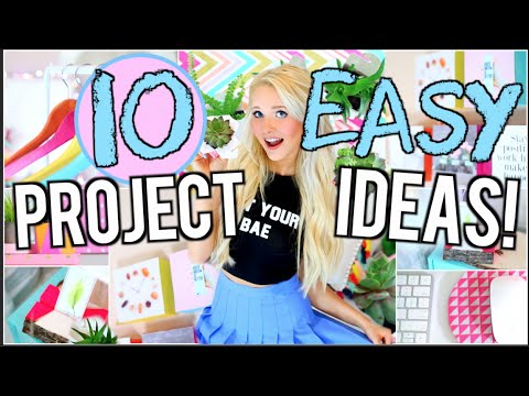 10 EASY DIY Project Ideas You NEED To Try!
