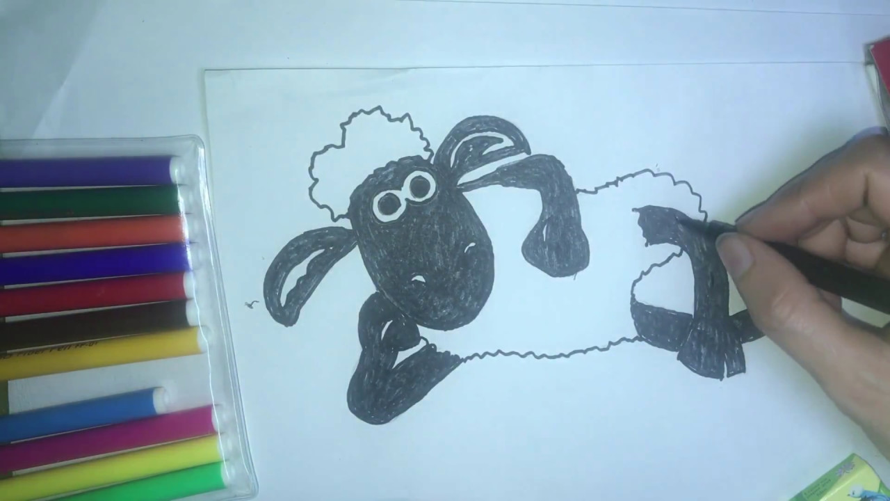 How To Draw Cartoon Shaun Sheep Cute Easy Step By Step Art Drawing