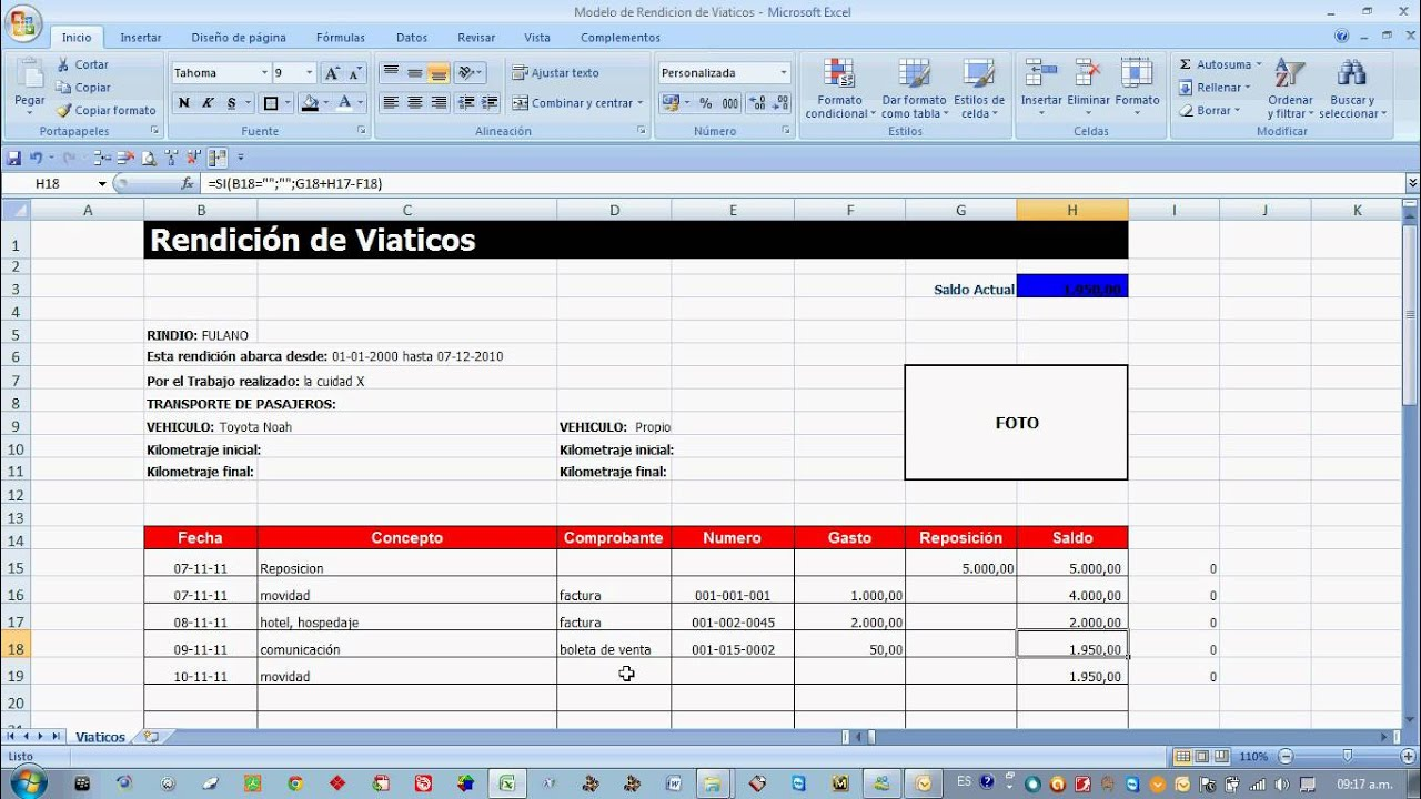 formato para viaticos excel - Leon.escapers.co