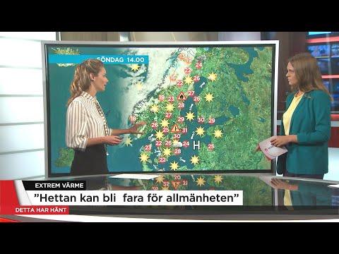 SMHI varnar för extrem värme - Nyheterna (TV4)