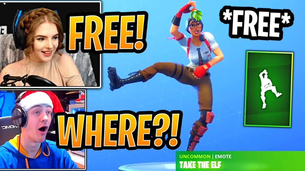streamers-react-to-free-new-take-the-elf-emote-fortnite-best-and-funny-moments