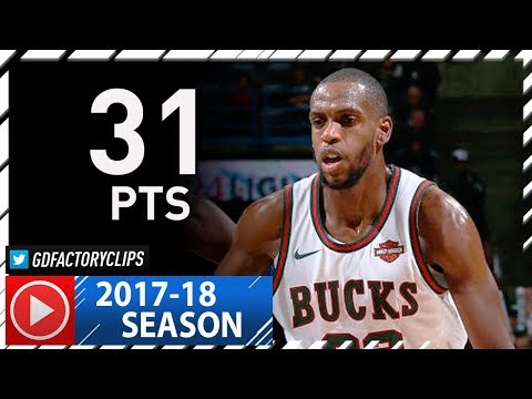Khris Middleton Full Highlights vs Mavericks (2017.12.08) - 31 Pts, Crazy 4th Qtr!