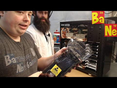 Live installation of two Nvidia Titan X Pascal GPUs in beast PC