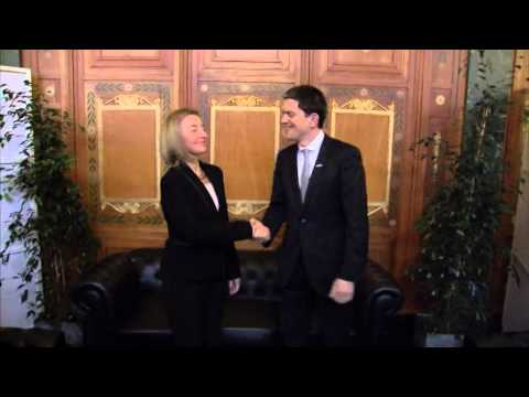 HRVP meets with David MILIBAND, President and CEO of the International Rescue Committee
