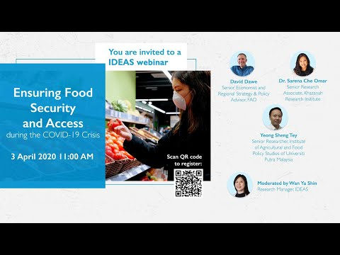 Recording of IDEAS Webinar: Ensuring Food Security and Access during the COVID-19 Crisis