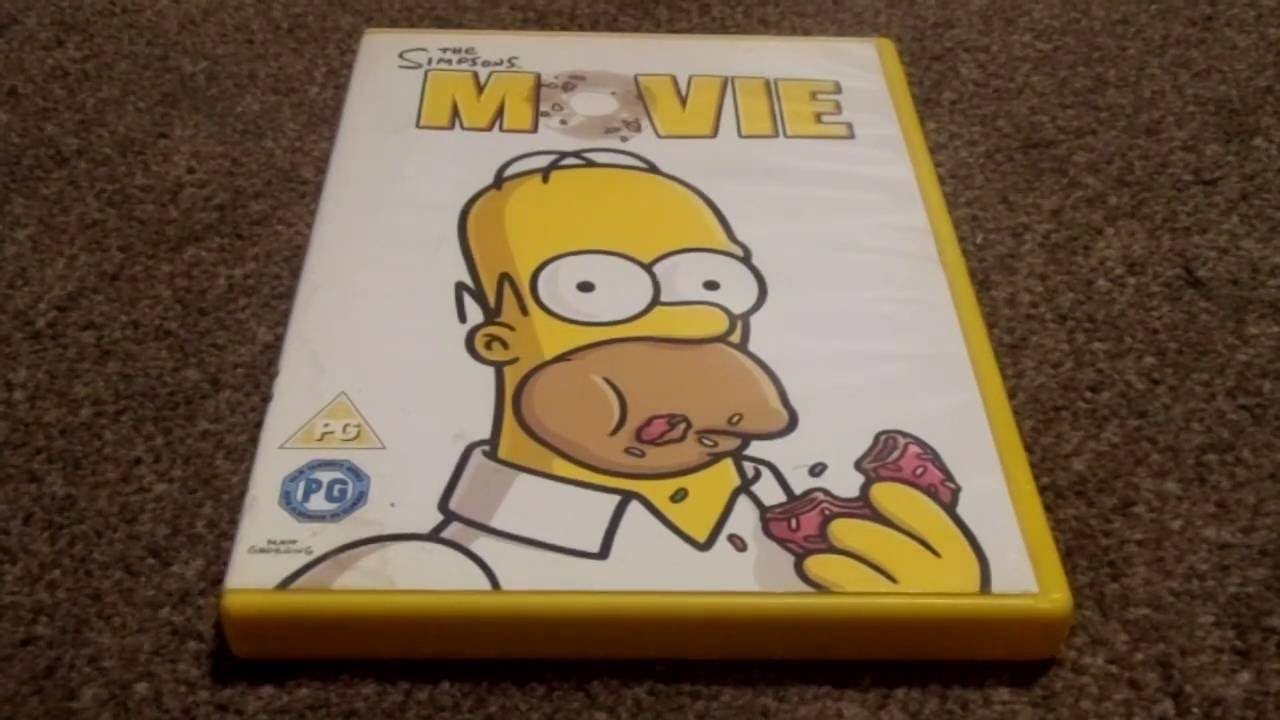 The Simpsons Movie Newer Version Uk Dvd Unboxing Youtube
