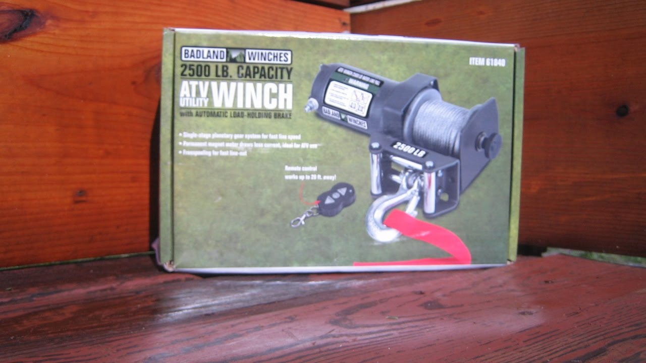 Harbor Freight Badland Winch How I May Mount to Boat Utility Trailer  Conversion