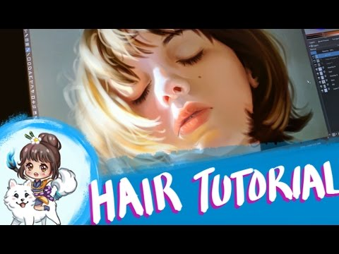 [ART LESSON] How to paint hair digitally