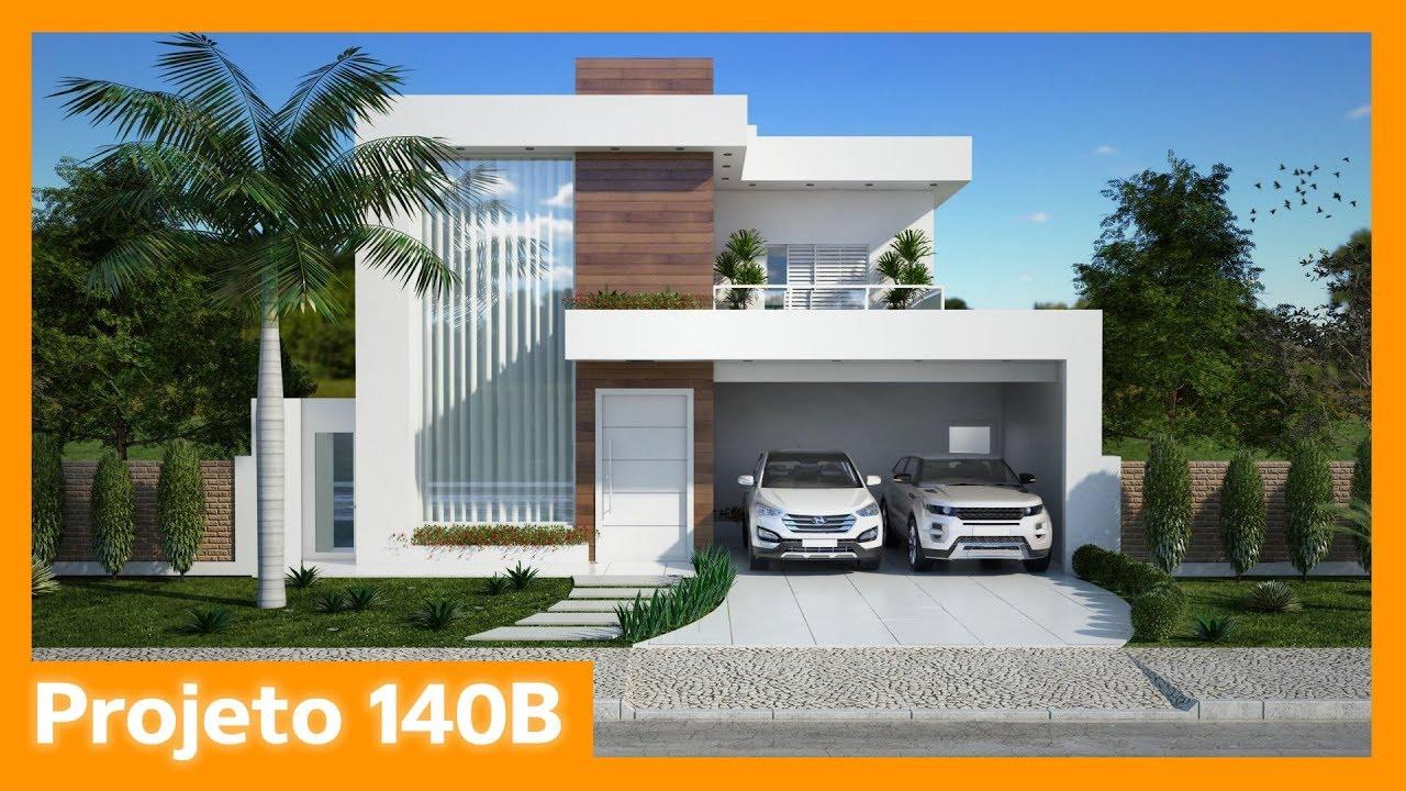 Sobrado moderno clean 140b youtube for Casa moderno kl